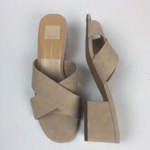 New Dolce Vita Ferne Blush Suede Sandals Slides 8